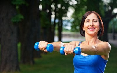 lifting, weights, later, in, life, older, active, adult