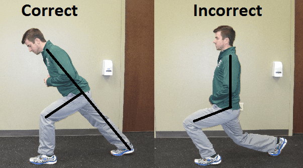 correct, lunging, form, physical, therapy, golf