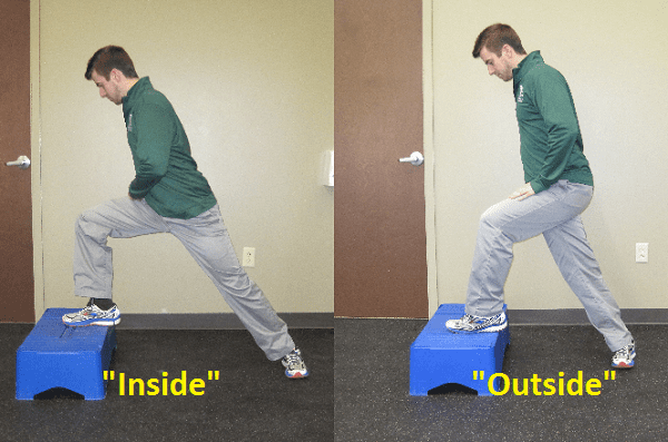 Inside, outside, lunges, physical, therap