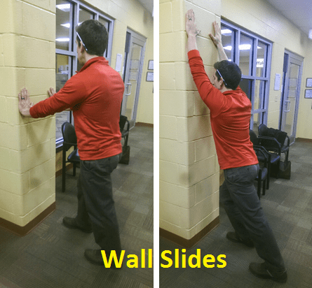 Bilateral,wall,slides,physical, therapy
