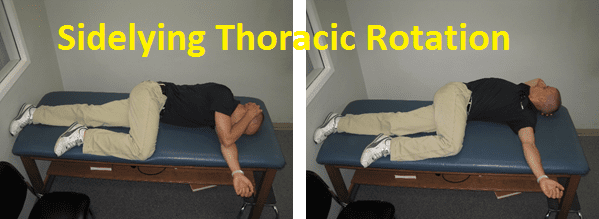 Sidelying, Thoracic, Rotation, physical, therapy
